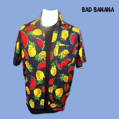 Men's lightweight Fruit Salad Hawaiian Festival Shirt