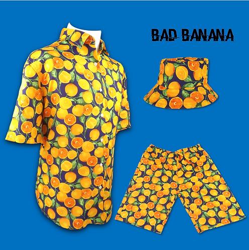 Men's Funky Orange Festival/Beach Combo