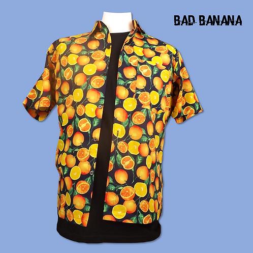 Men's lightweight Orange Hawaiian Festival Shirt