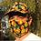Thumbnail: Fruity Baseball Cap + Mask - Orange