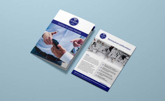 Brochure en inlegvel Safe2GoApp