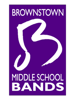BMS Band b w words large in purple