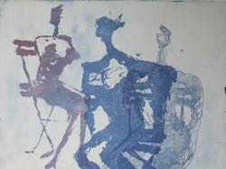 gravure ensemble bleu