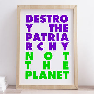 Destroy Patriarchy Not The Planet. Risografía