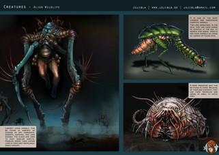 Concept Art - Kreaturen und Alienlebewesen