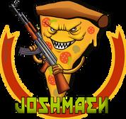 Pizza als Logo für Joshmaens Twitch Channel. Erstellt mit Adobe Photoshop.