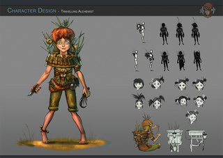 Character Design - Nita, die Wandernde Alchemistin
