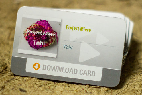 """Project Miere """"Tahi"""" Download Card"""