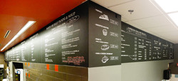 Painted menu on the wall