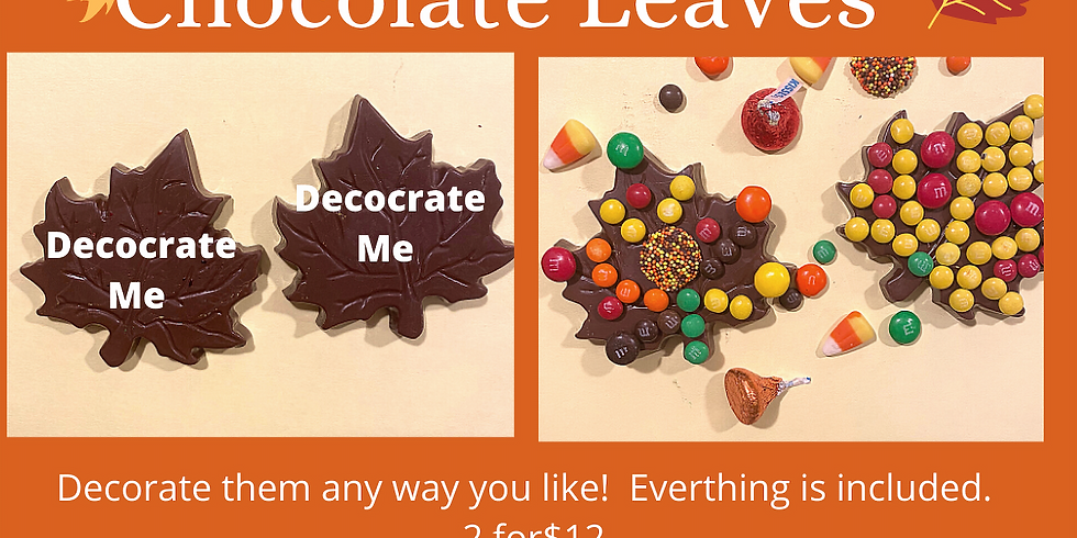 Take & Create Chocolate Leaves (set of 2)
