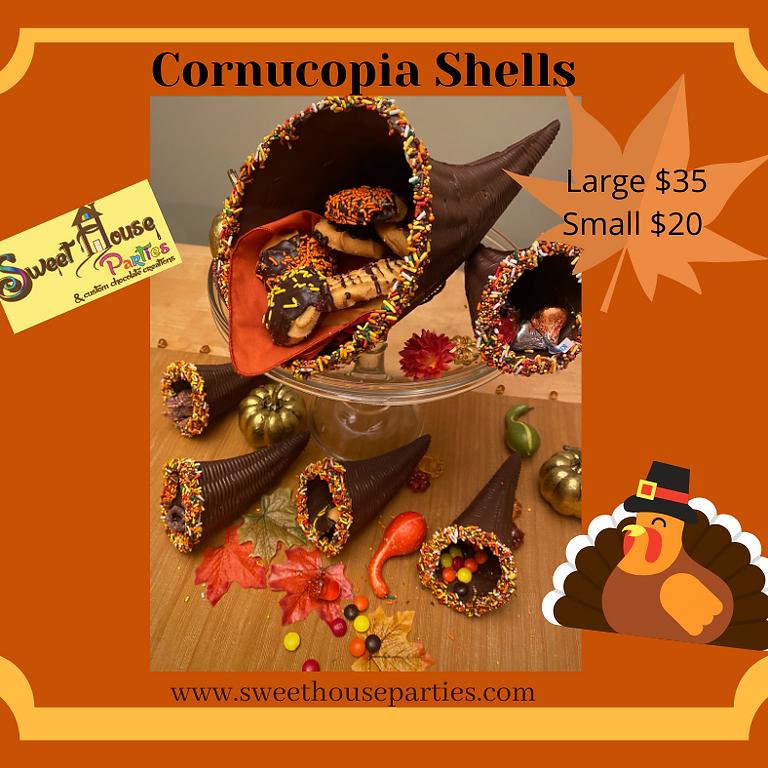 Small Chocolate Cornucopia