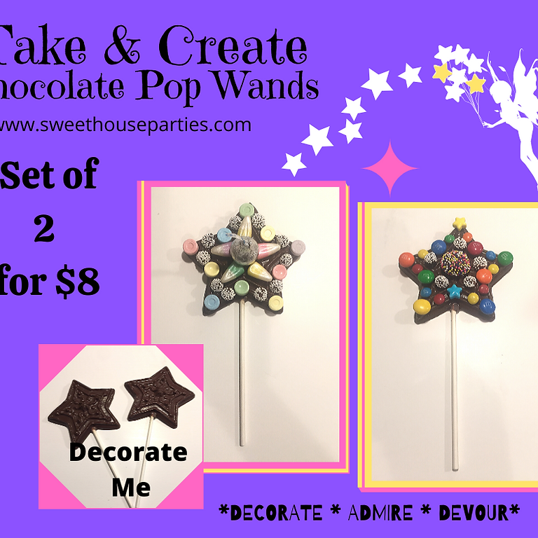 Take & Create Chocolate Wand Pops