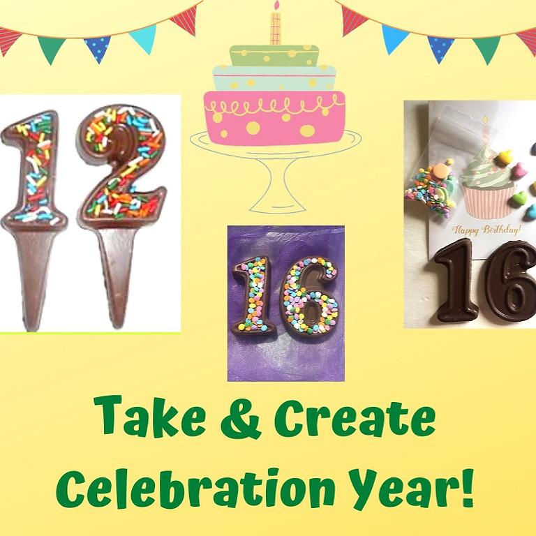 Take & Create Celebration Numbers