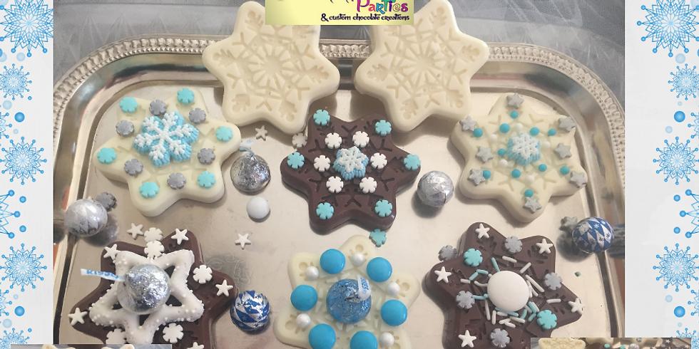 TAKE & CREATE CHOCOLATE SNOWFLAKES