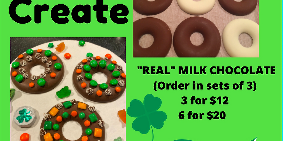 TAKE & CREATE LEPRECHAUN DONUTS - SOLD OUT