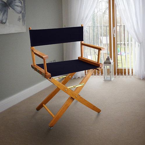 "Extra-Wide Premium 18""  Directors Chair Mission Oak Frame"