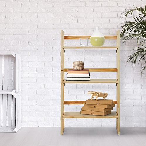 "3-Shelf Folding Student Bookcase 20.75"" Wide"