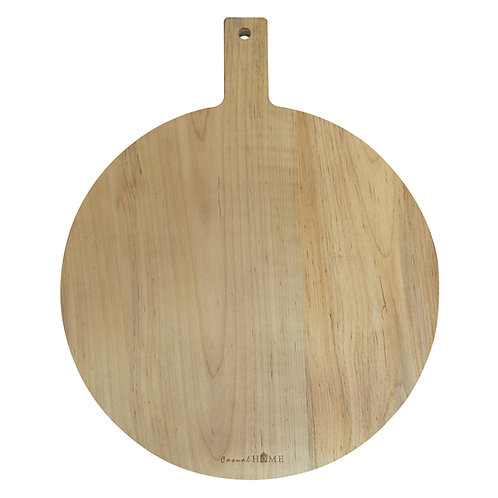 Amity Maple Round Cutting Board with Hanging Hole & Handle