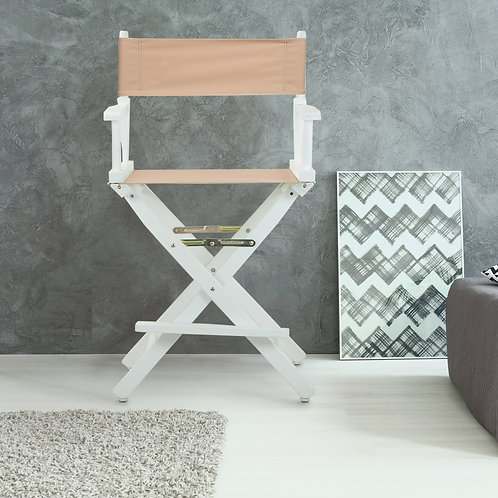 """24"""" Director's Chair White Frame"""