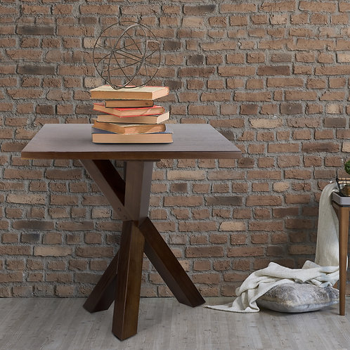 "Ridgefield End Table with 1"" Thick Solid Walnut Wood Top"