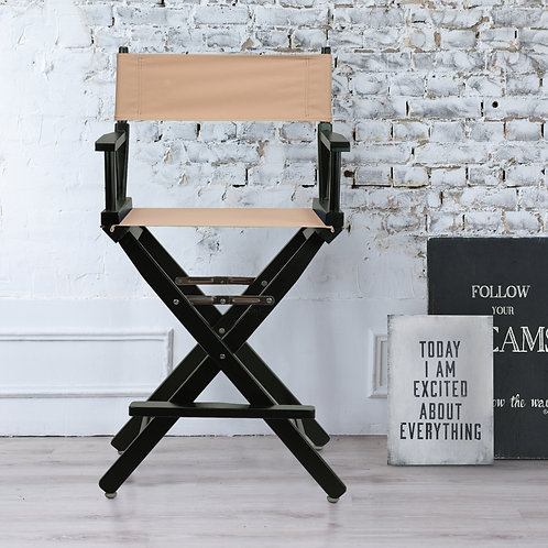 "24"" Director's Chair Black Frame"