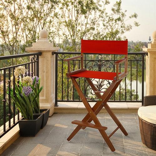 "Extra-Wide Premium 30""  Directors Chair Mission Oak Frame"