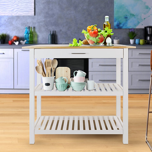 Kitchen Island with Solid Wood