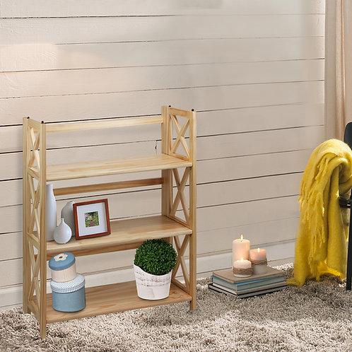 Montego 3-Shelf Folding Bookcase