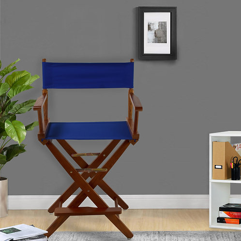 "Extra-Wide Premium 24""  Directors Chair Mission Oak Frame"
