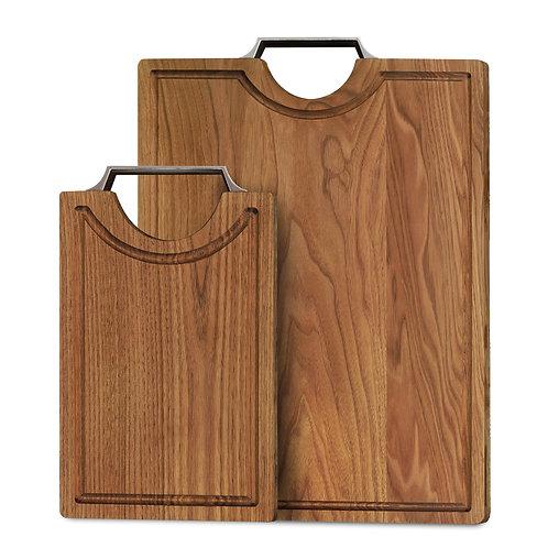 Herritage Walnut Rectangle Cutting Board with Handle