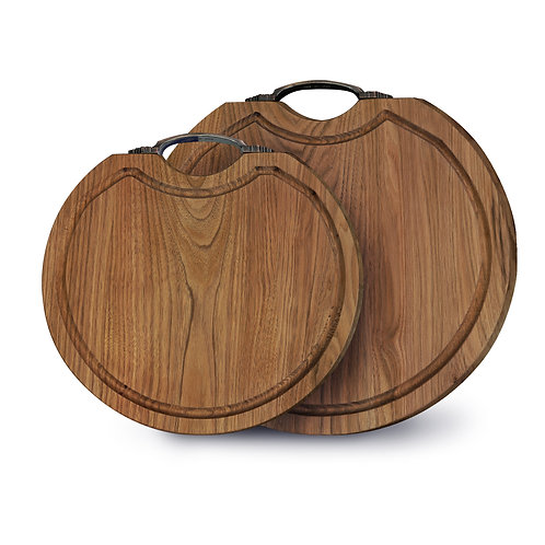 Herritage Walnut Round Cutting Board with Handle
