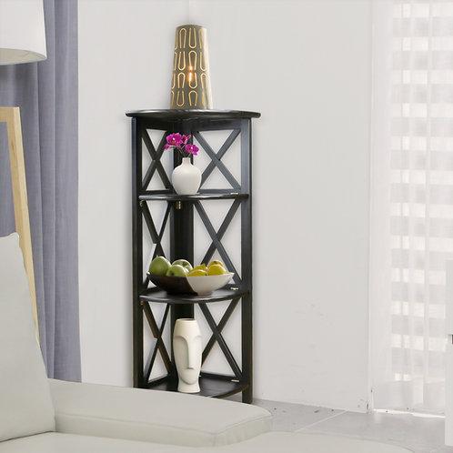 Montego 4-Shelf Corner Folding Bookcase