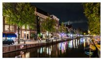 Night Scene in Amsterdam