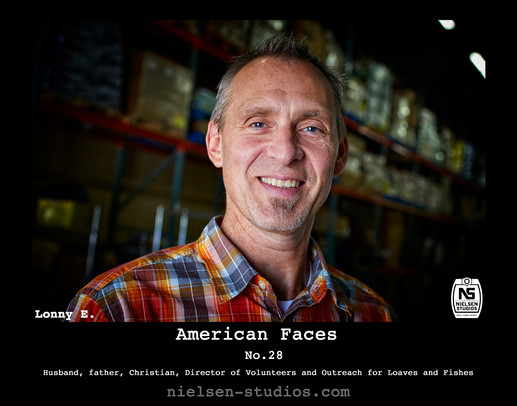 American Faces #28. Photo taken by Nielsen Studios Inc of Minnesota for the American Faces Series.  Available light, Minneapolis, Minnesota, people photography, location photography, flash photography, lighting