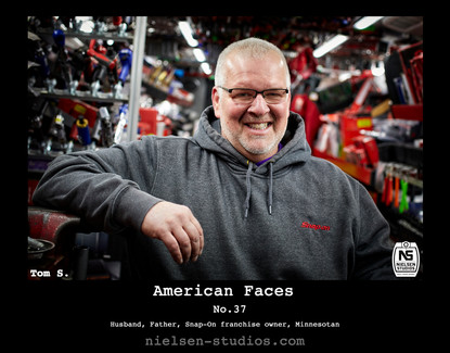 American Faces #37. Photo taken by Nielsen Studios Inc of Minnesota for the American Faces Series.  Available light, Minneapolis, Minnesota, people photography, location photography, flash photography, lighting