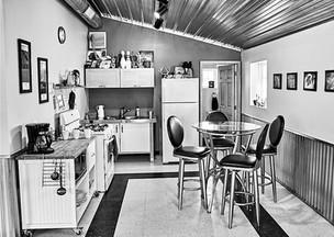 The kitchen/office
