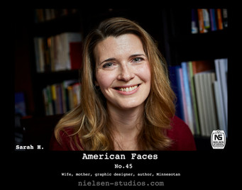 American Faces #45. Photograph of Sarah Hanley.