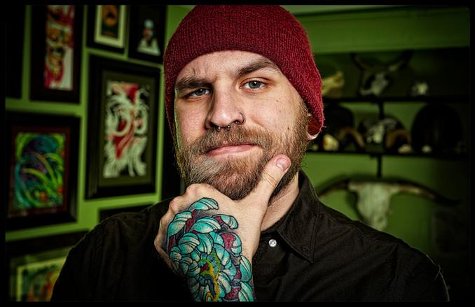 Kaden the tatoo artist.