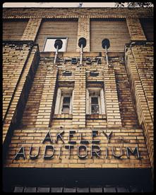 The Akeley Auditorium in Akeley, Minnesota