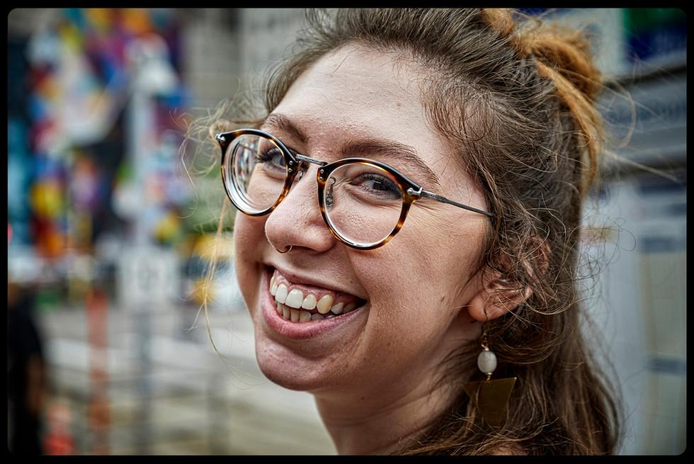 Young urban woman in Minneapolis, Minnesota.