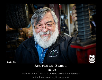 American Faces #38. Photo taken by Nielsen Studios Inc of Minnesota for the American Faces Series.  Available light, Minneapolis, Minnesota, people photography, location photography, flash photography, lighting