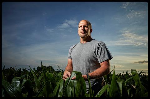 Farmer in a field near Pipestone, MN.