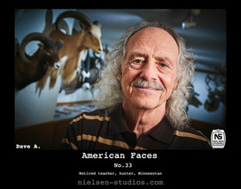 American Faces #33. Photo taken by Nielsen Studios Inc of Minnesota for the American Faces Series.  Available light, Minneapolis, Minnesota, people photography, location photography, flash photography, lighting