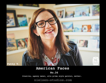 American Faces #26. Photo taken by Nielsen Studios Inc of Minnesota for the American Faces Series.  Available light, Minneapolis, Minnesota, people photography, location photography, flash photography, lighting
