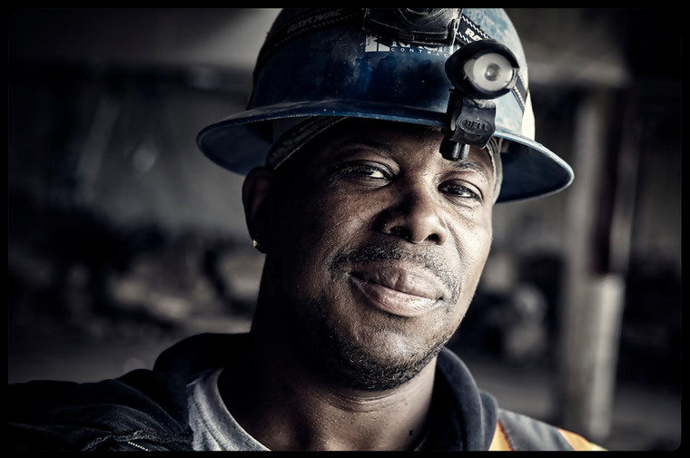 Construction worker in St. Paul, Minnesota.