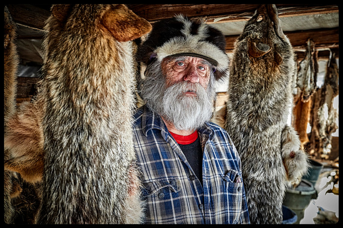Photo of modern day trapper.
