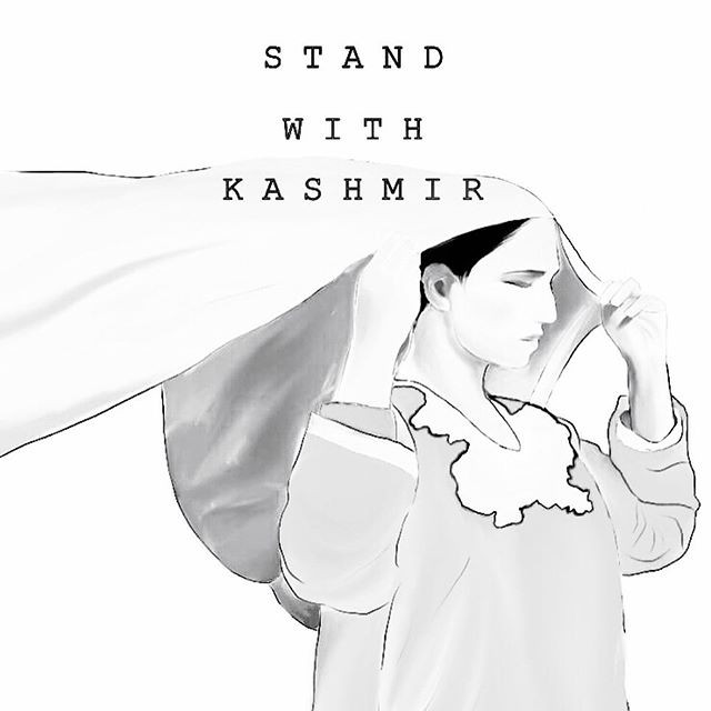 Stand with Kashmir - White Poster