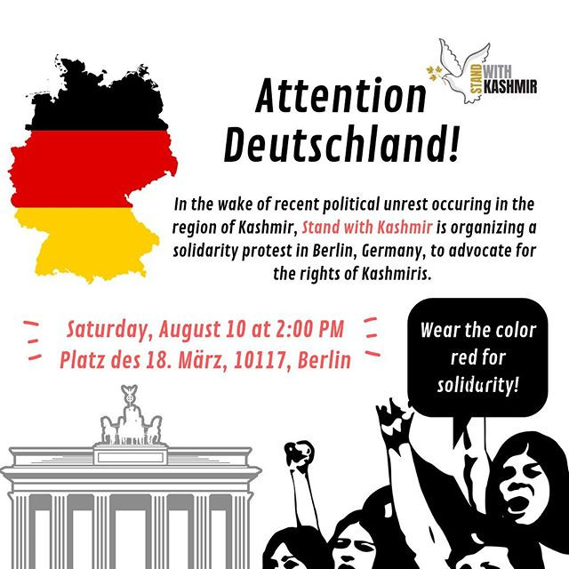 Berlin Protest - Stand with kashmir