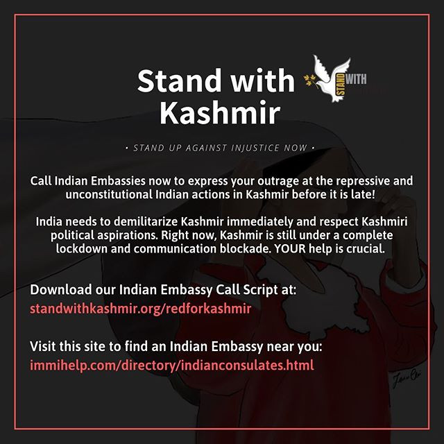 Stand with Kashmir - Call Indian Embassy