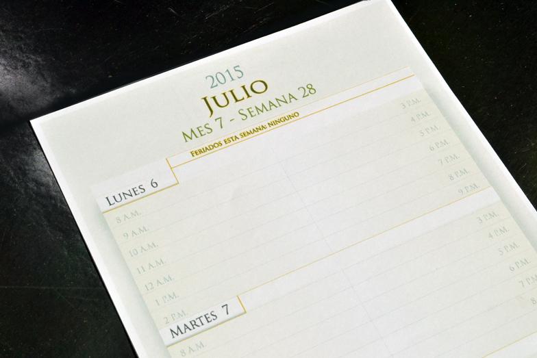 agenda personalizada página interior